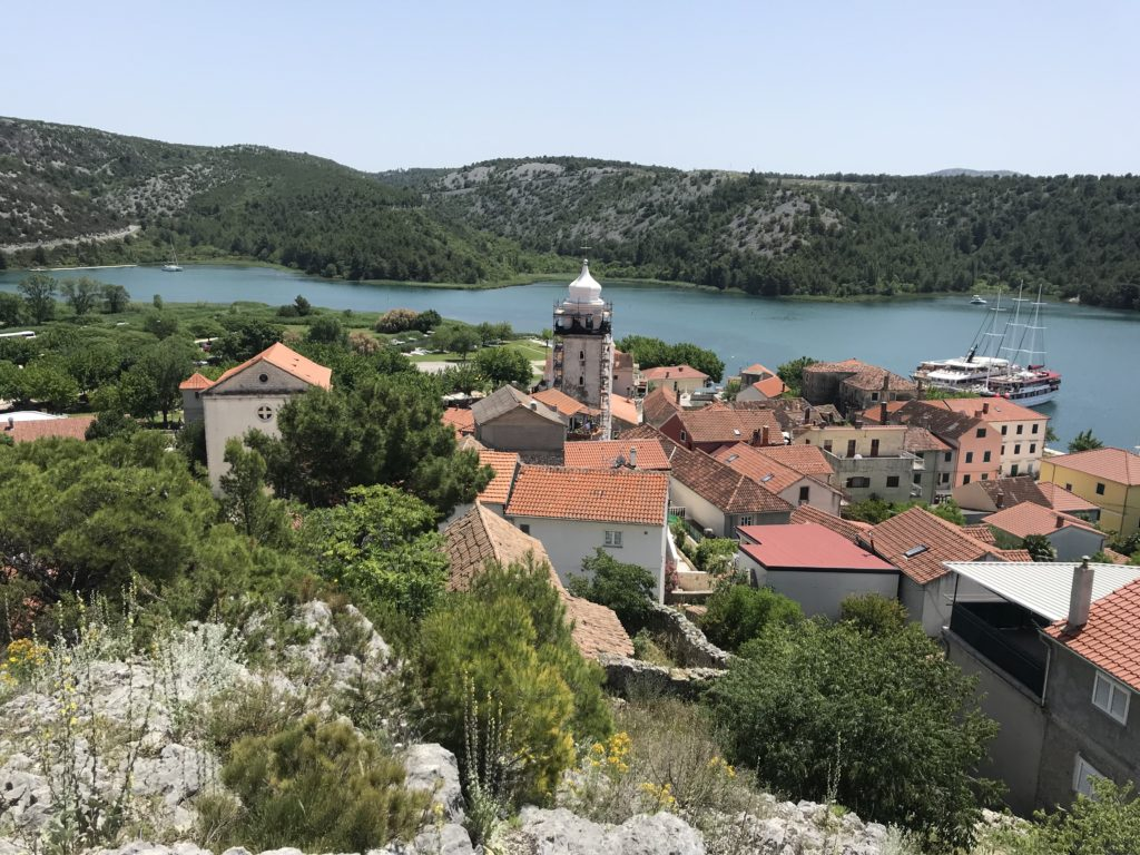 The best way to take a day trip to Krka from Split is by passing through this community of Skradin.