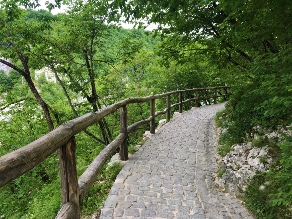 Stone pathway that leads from Entrance 1.
