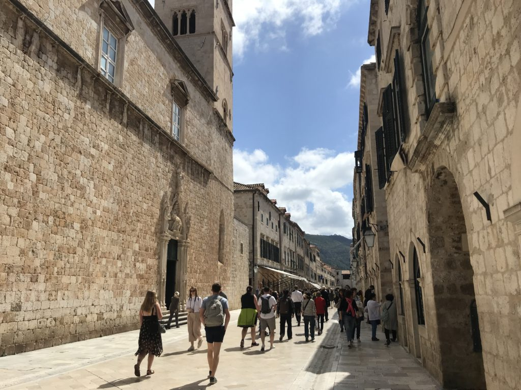 Placa Stradun Street is the main street in Dubrovnik and is entirely wheelchair accessible.