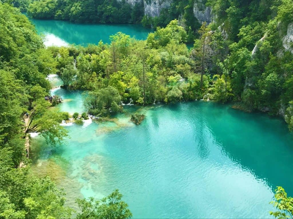 A quiet part of Plitvice Lakes National Park.