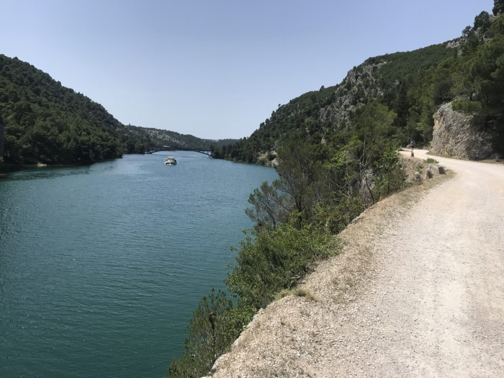 This is the walking path that leads from Skradin to Krka National Park.