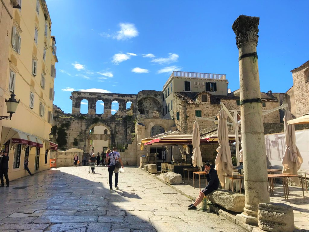 The old town in Split is mostly wheelchair accessible, although it has a cobblestone surface.