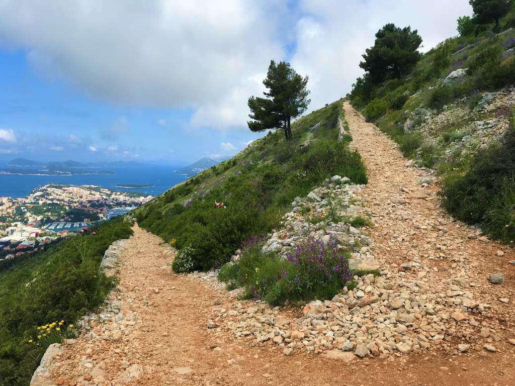 Switchback path leading to Mount Srd.