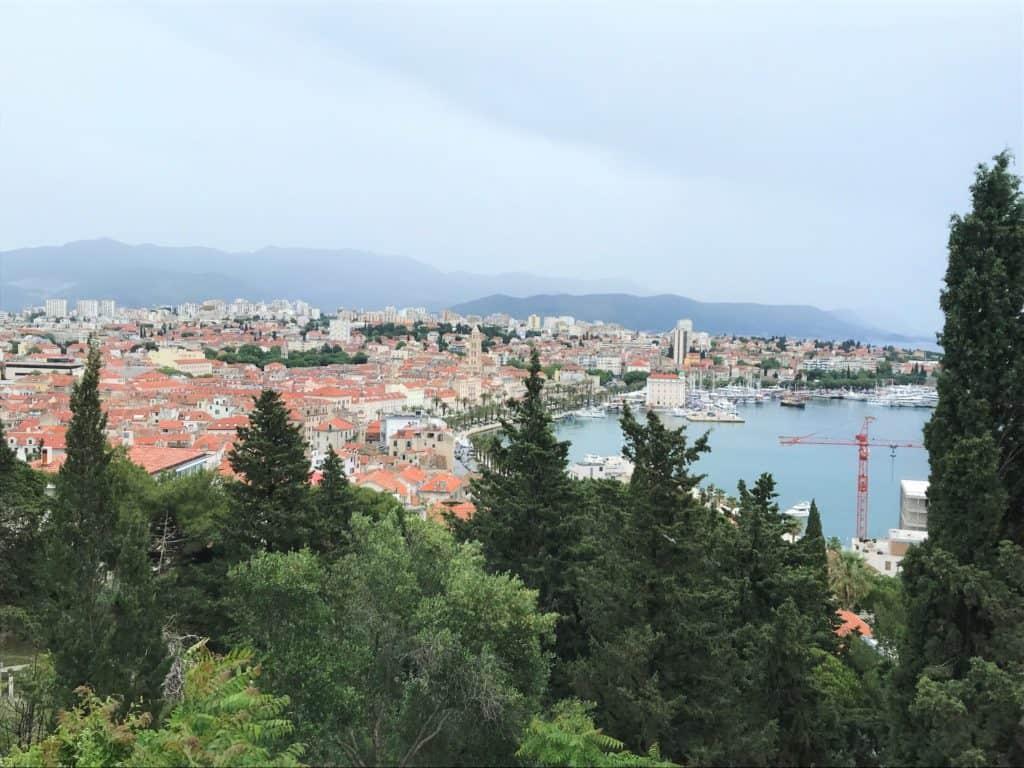 A view of Split from Marjan Hill.