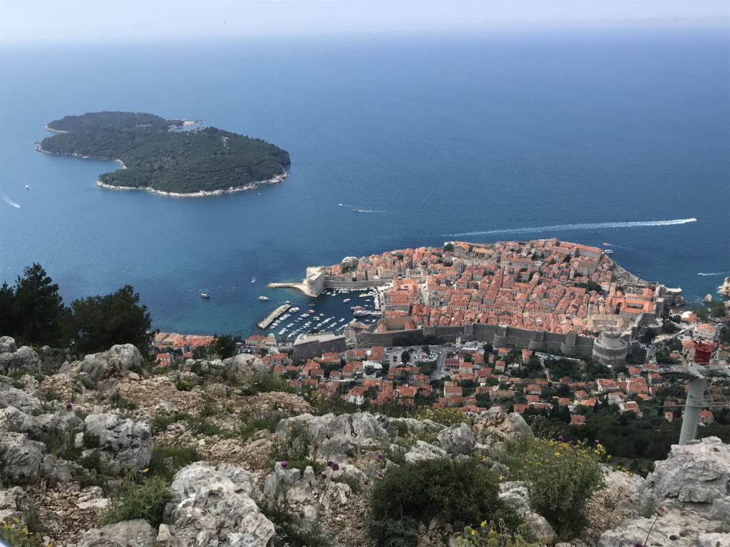 A view of Dubrovnik from Mount Srđ.