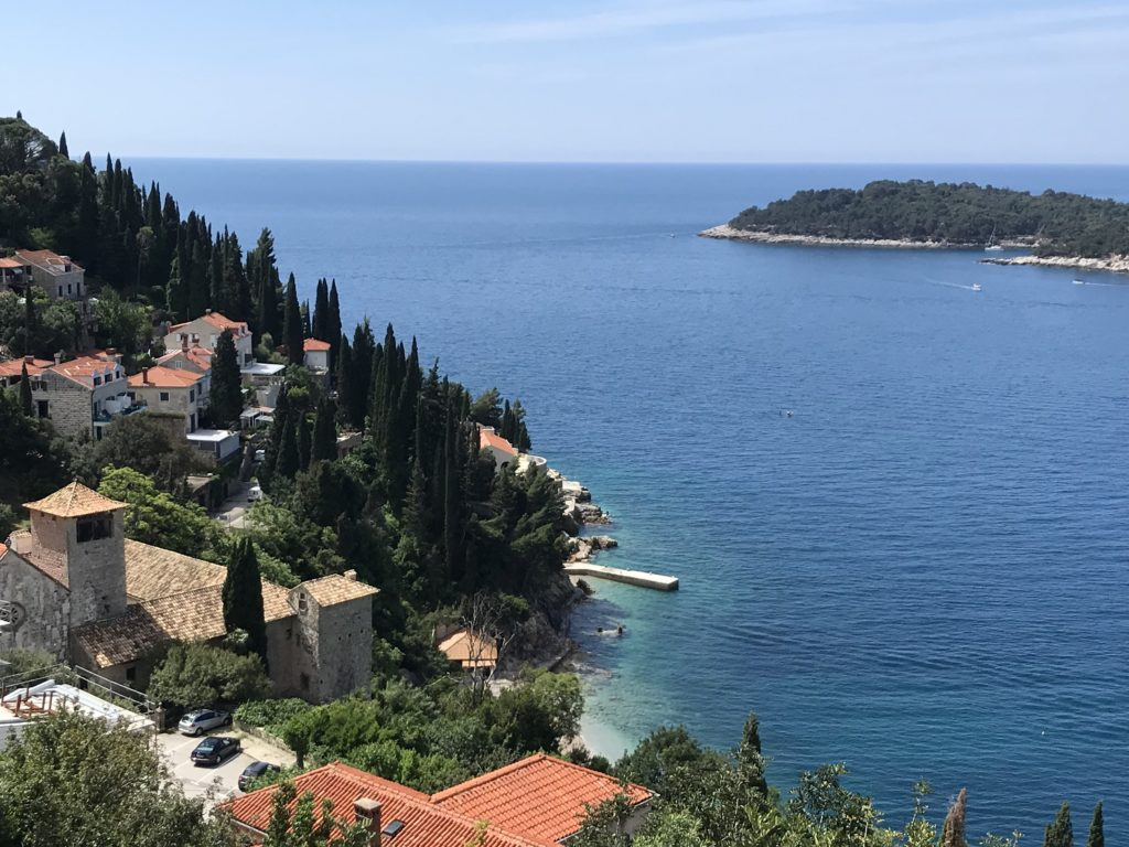 One of the best best things to do in Dubrovnik Croatia is walking outside of the old town and enjoying views of smaller, coastal towns like this one.
