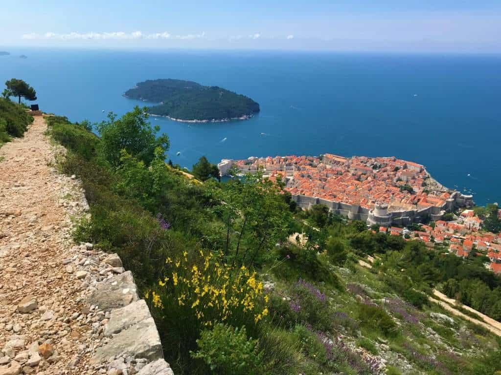 Views of Dubrovnik old town and Lokrum Island.