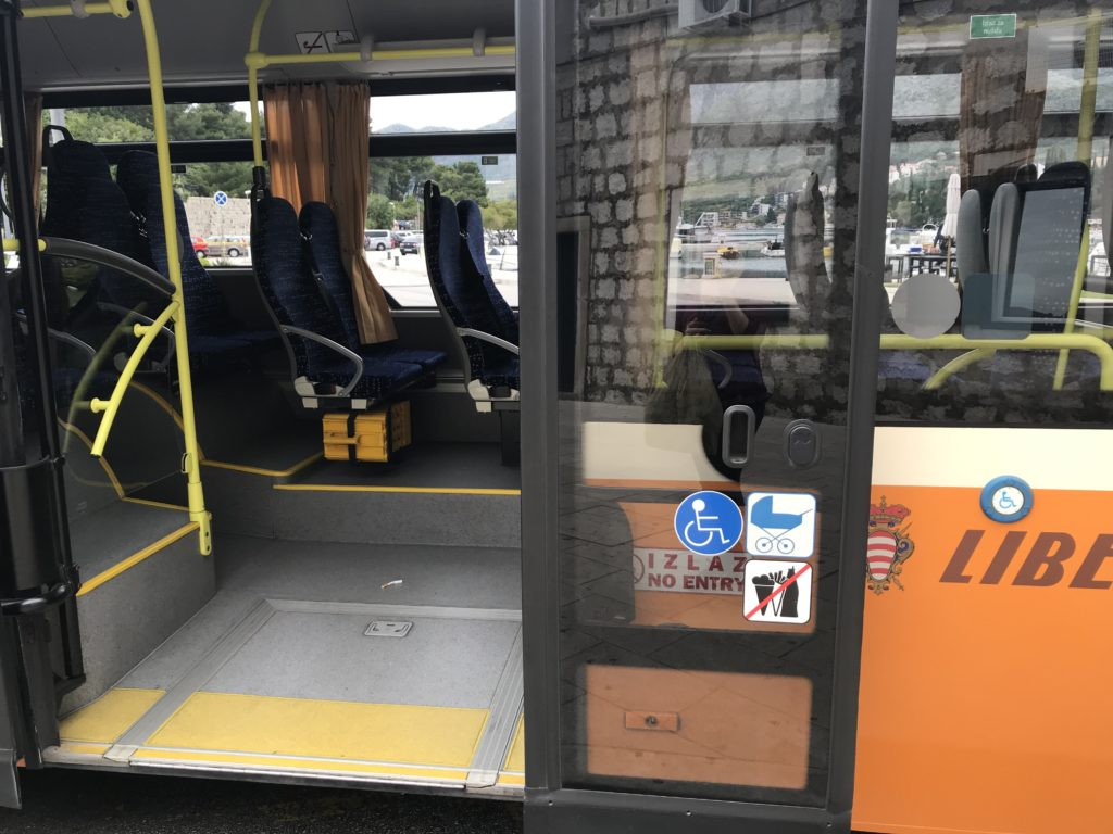 Wheelchair accessible bus in Dubrovnik.