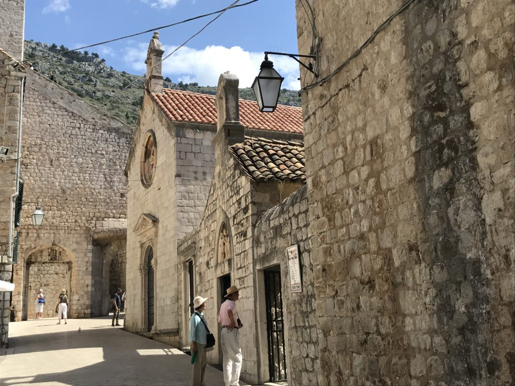 Wheelchair accessible street in the old town of Dubrovnik.