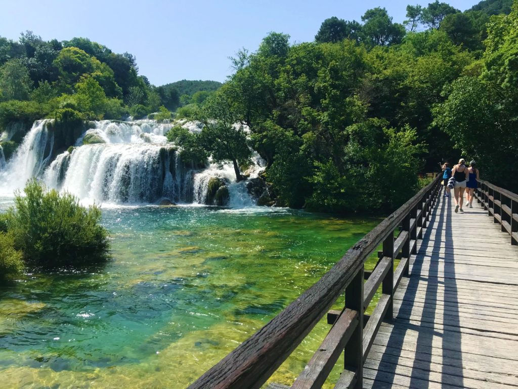 The main viewpoint at Krka National Park is wheelchair accessible.
