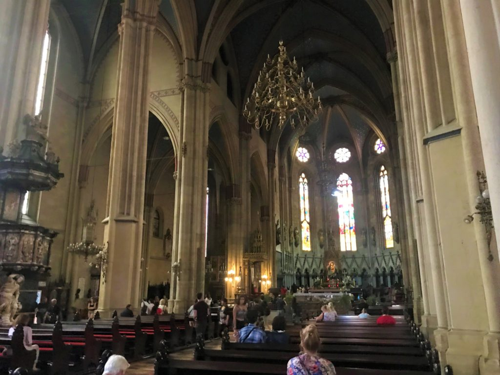 The inside of the Cathedral of Zagreb, which is one of the must-see things to do in Zagreb.