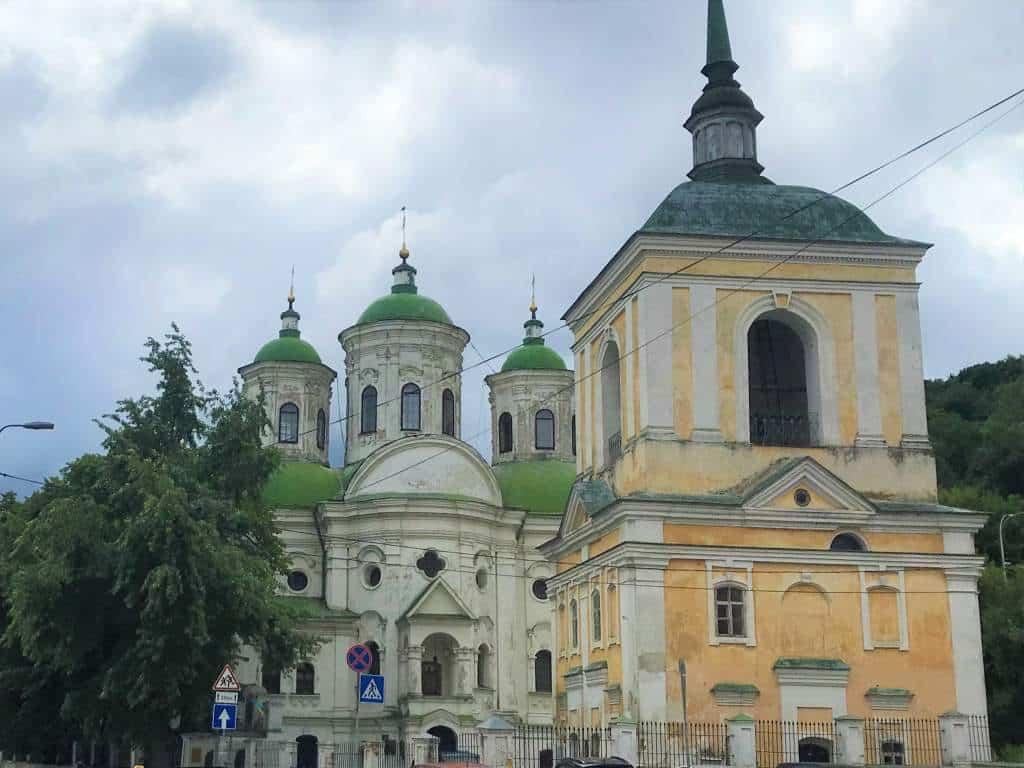 The outside of the Florovsky-Vozesensky Monastery.