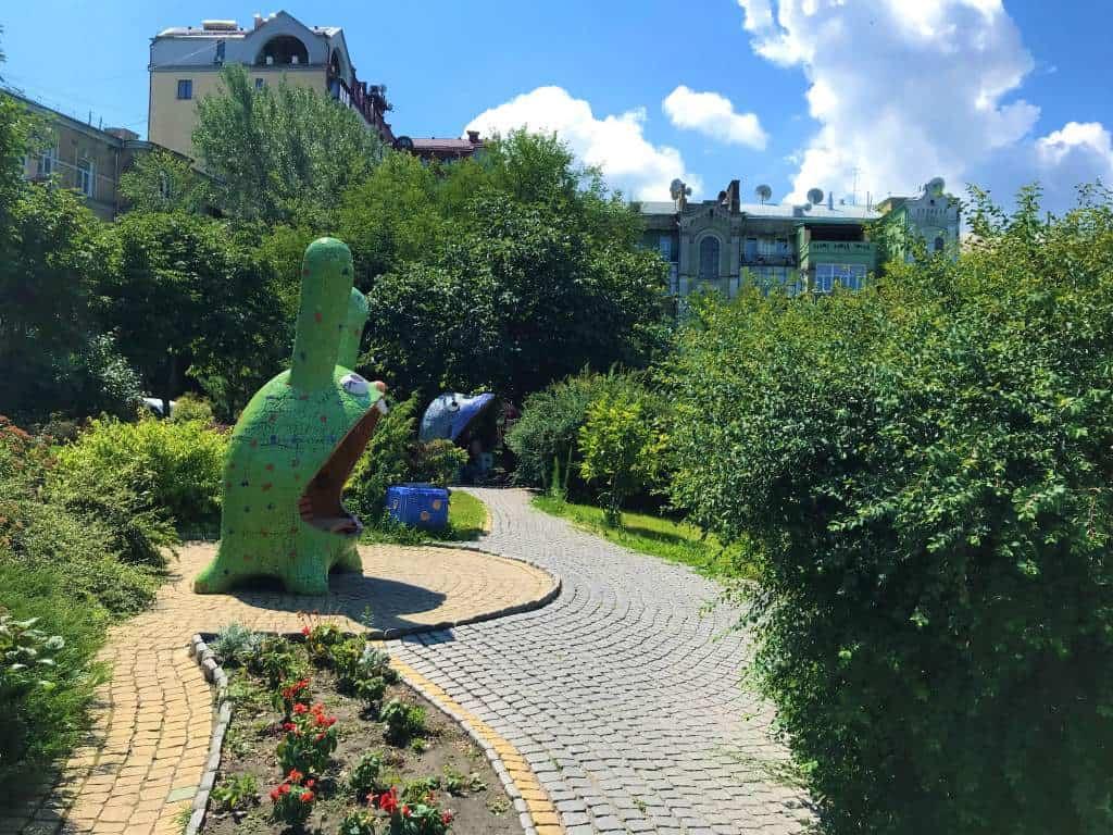 Monster statues at Landscape Alley Park.