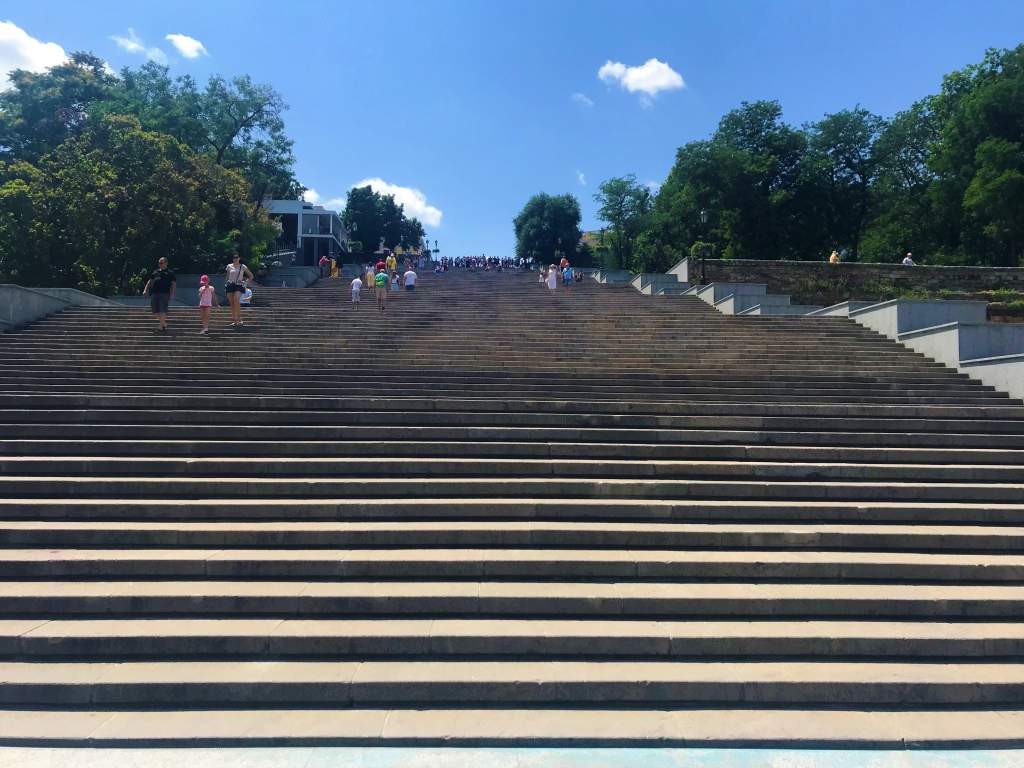 A view from the bottom of the Potemkin Stairs.