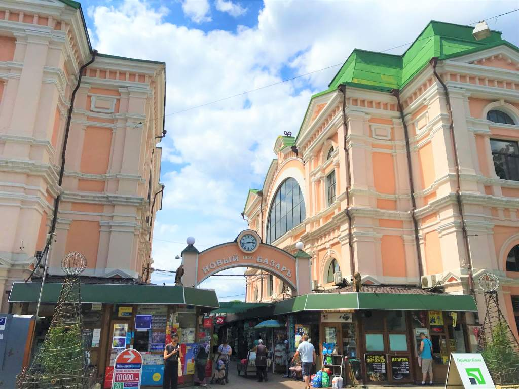 The colorful exterior of the Privox Market is a must-see things to do in Odessa.