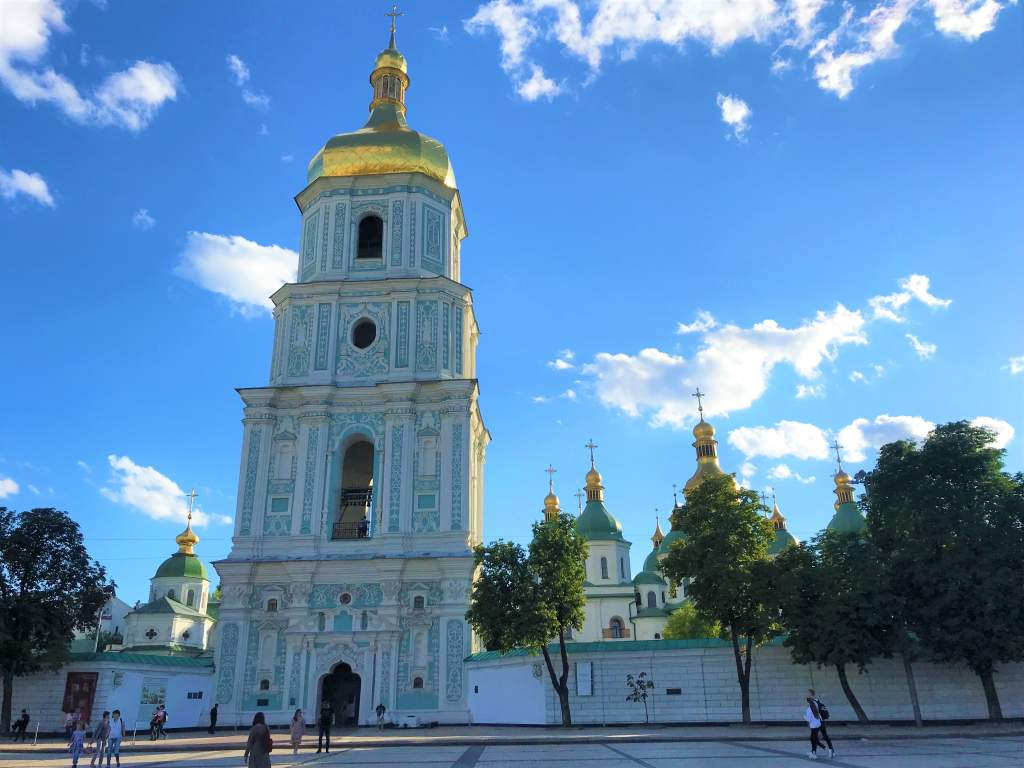 Hiking up the bell tower is a must-do things to do in Kyiv.