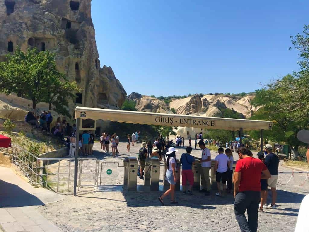 The accessible entrance to the Göreme Open Air Museum in Cappadocia.