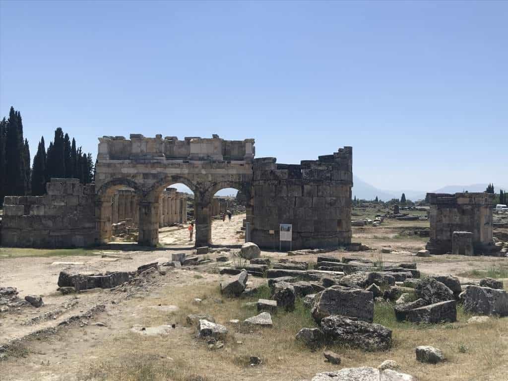 Ruins at the Hierapolis.