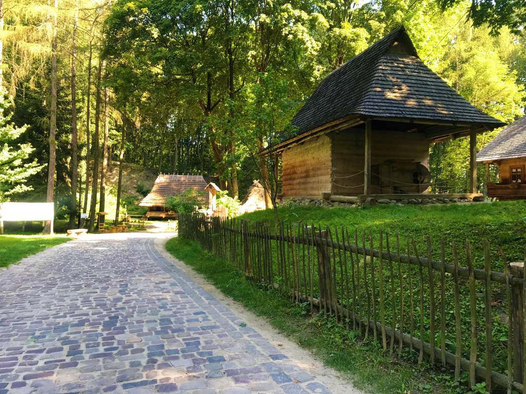 A log cabin at the Lviv Open Air Museum.