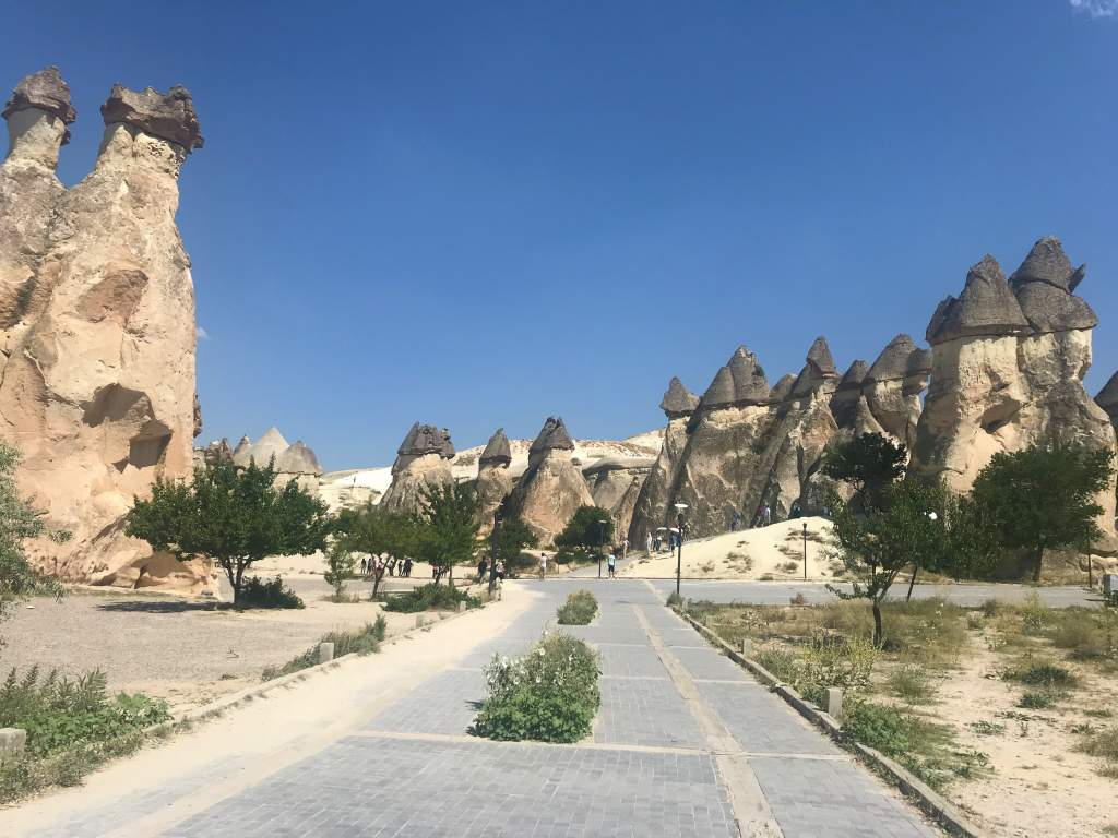 An accessible path that runs through Paşabağ Valley in Cappadocia.