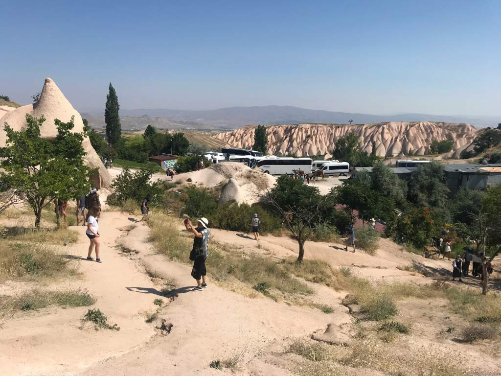 More of the dirt path through Uçhisar Castle.