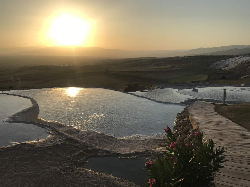 Sunset at Pamukkale.