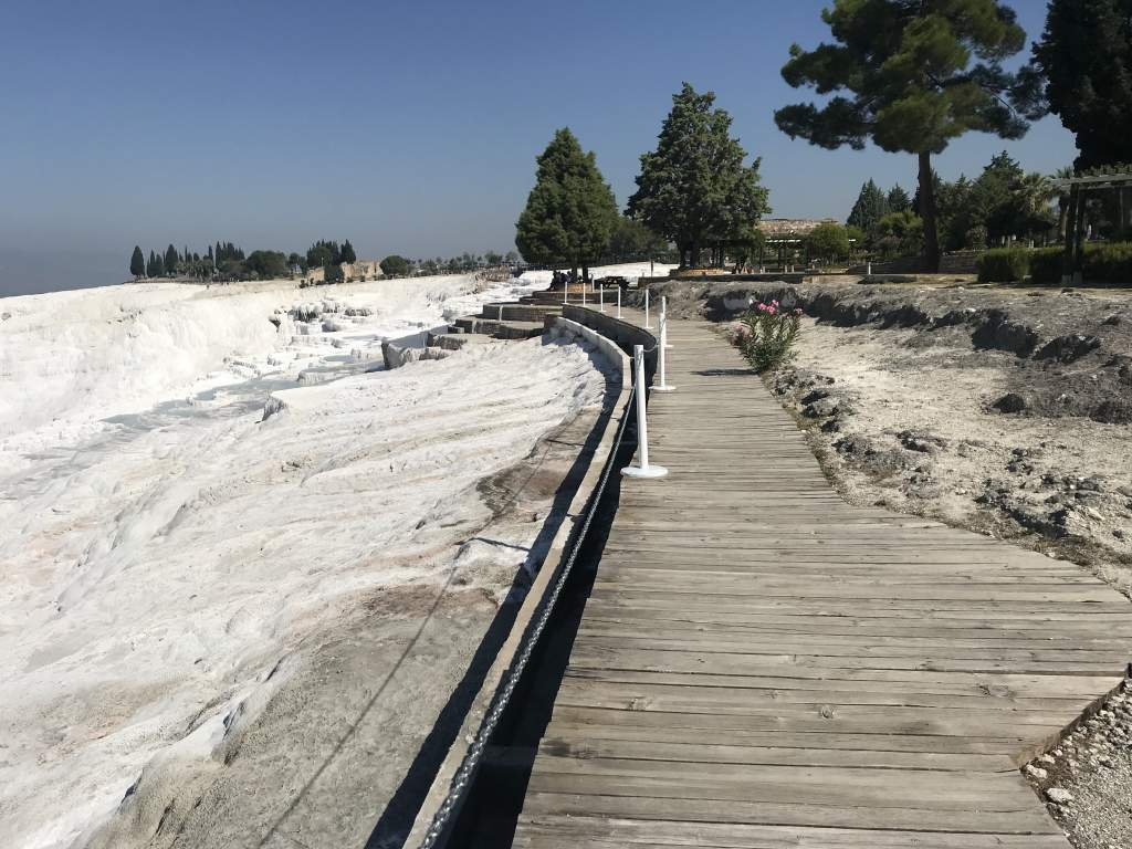 The boardwalk above the Pamukkale tavertines is wheelchair accessible.