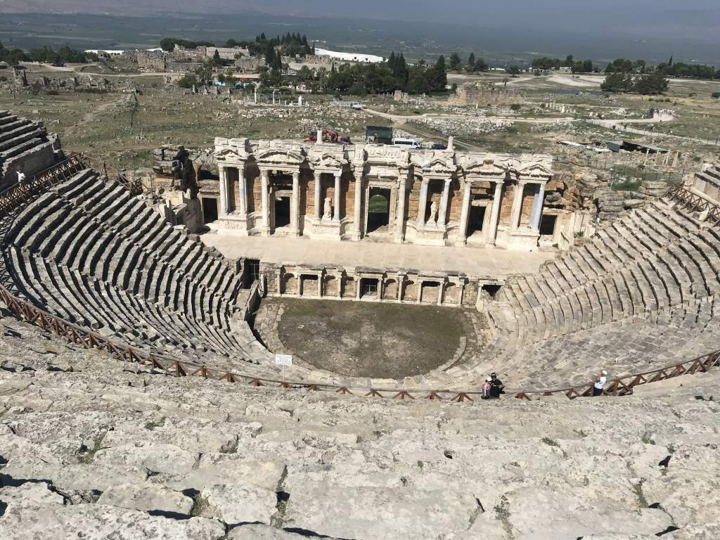 A view from the wheelchair accessible area at the top of the theater in Pamukkale.