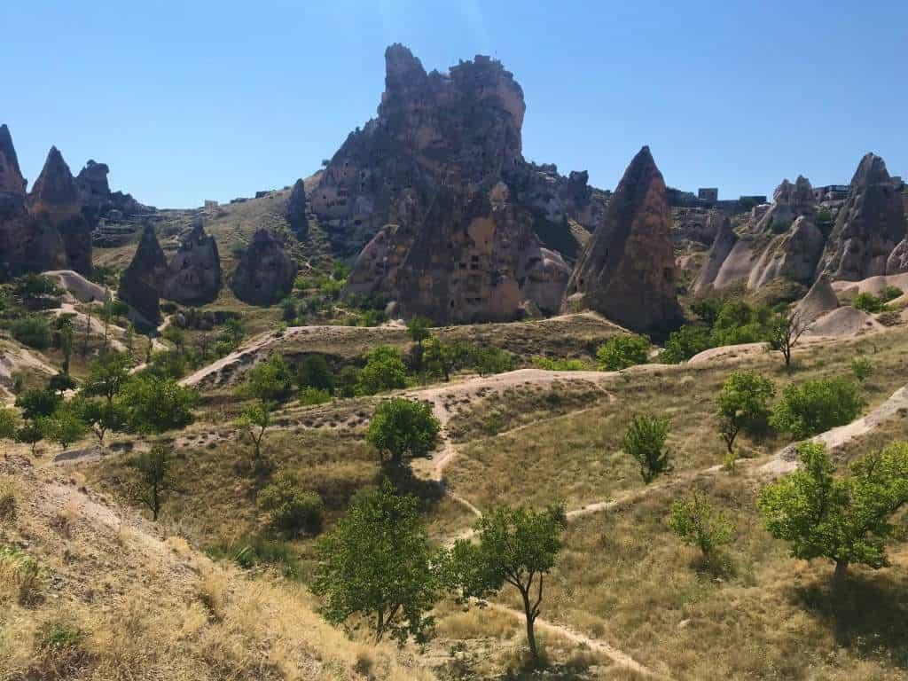 The Uçhisar Castle.