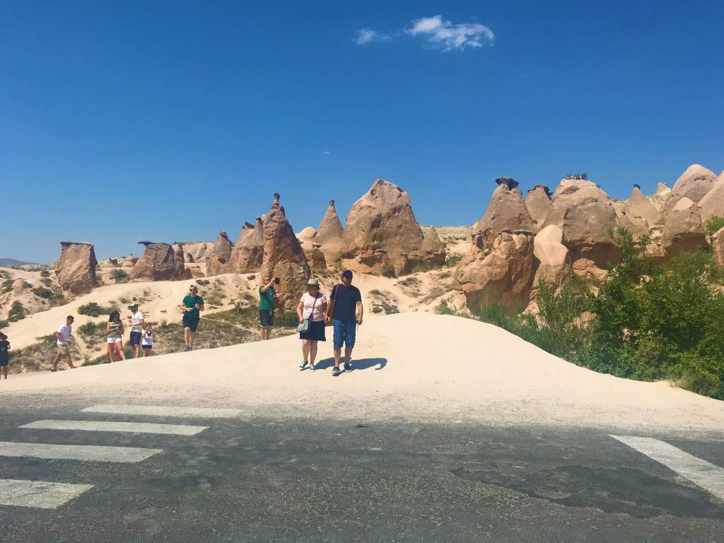 An accessible viewpoint of Magic Valley in Cappadocia.