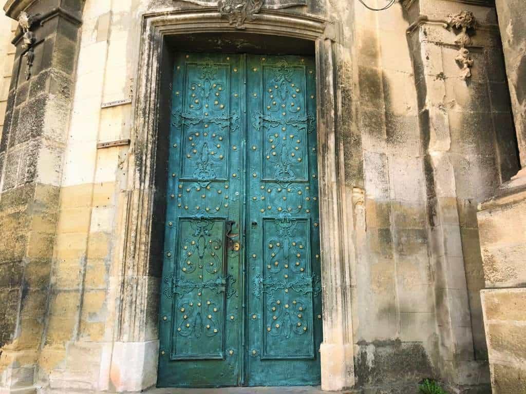 The blue door at St. Eucharist Church.
