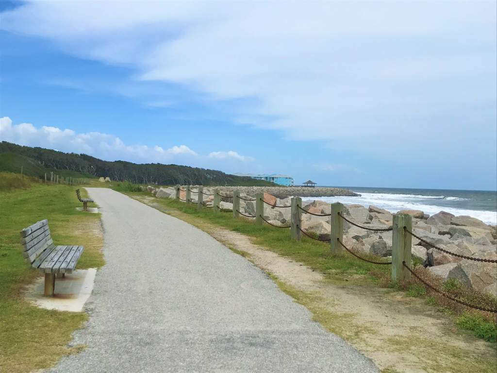 A wheelchair accessible path runs through Kure Beach in Wilmington.