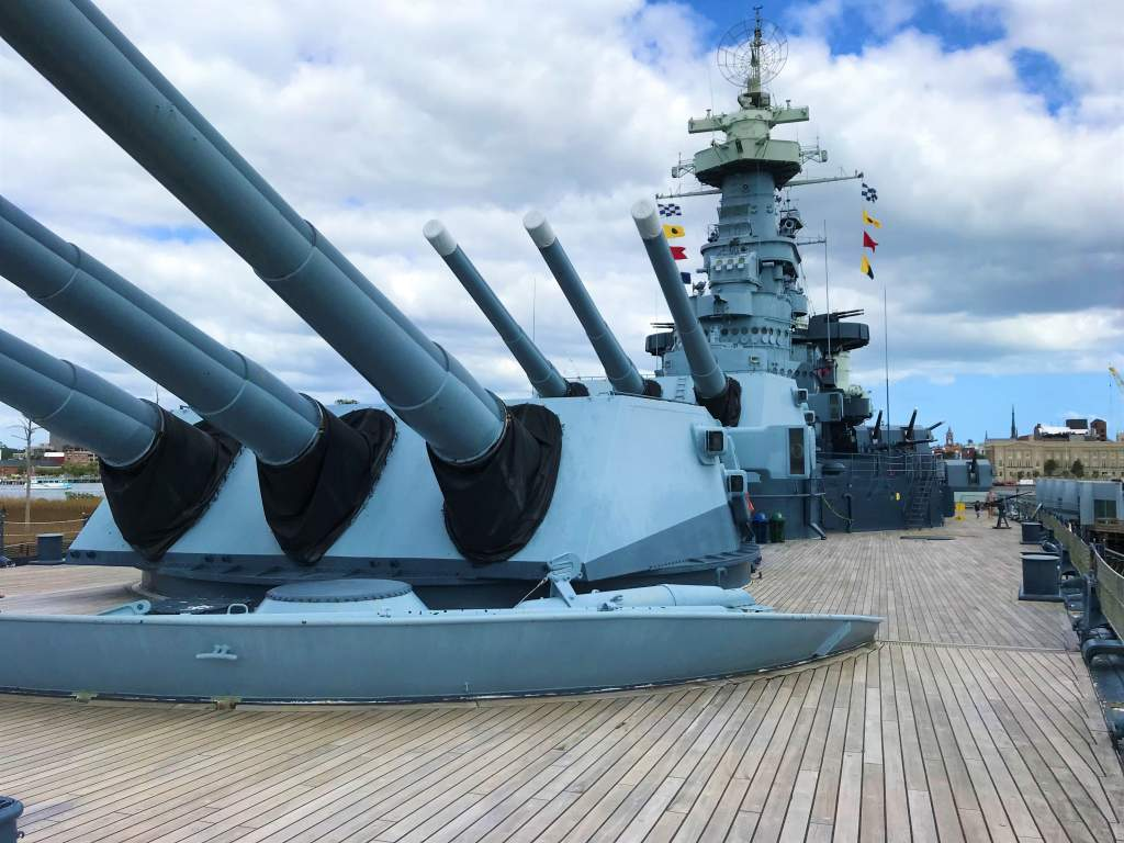 The deck of the USS North Carolina battleship in Wilmington is wide and flat, making it wheelchair accessible.