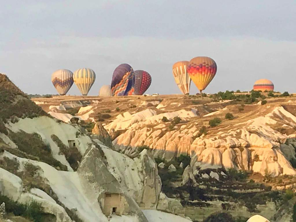 Balloons deflating after sunrise.