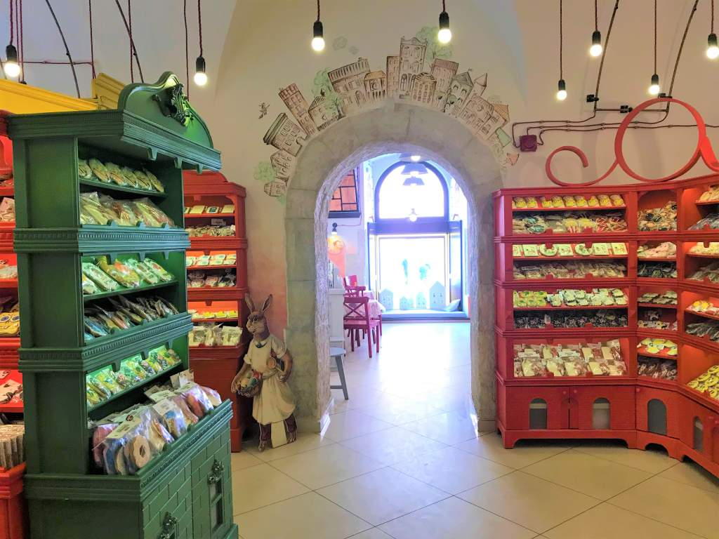 The inside of the gingerbread shop in Lviv.