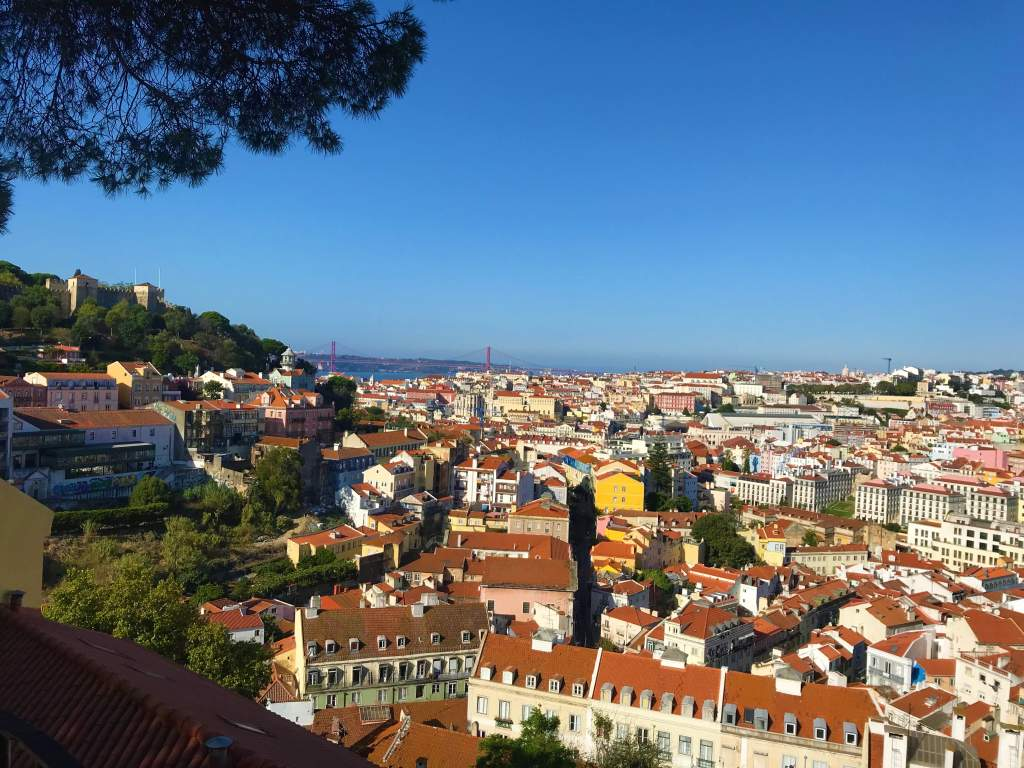 A view of Lisbon from Graça Church.