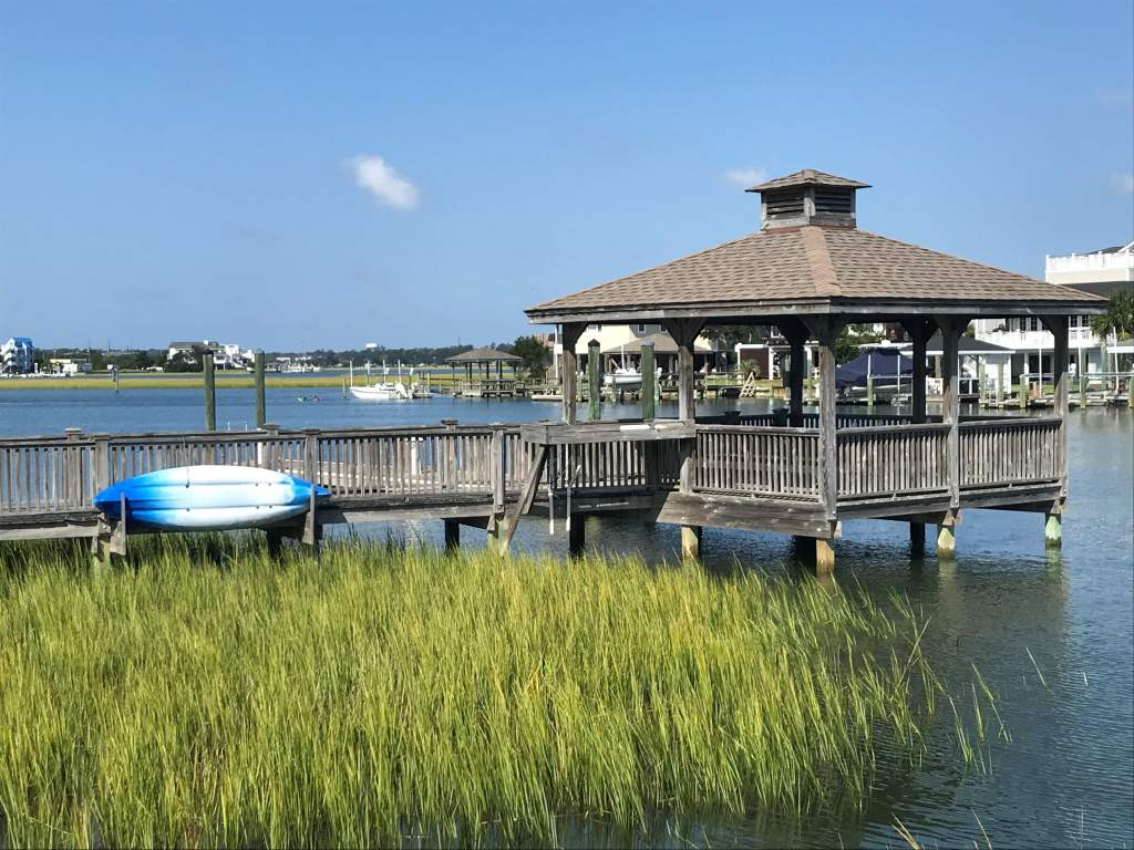 A view of the Intracoastal Waterway side of Wrightsville Beach.