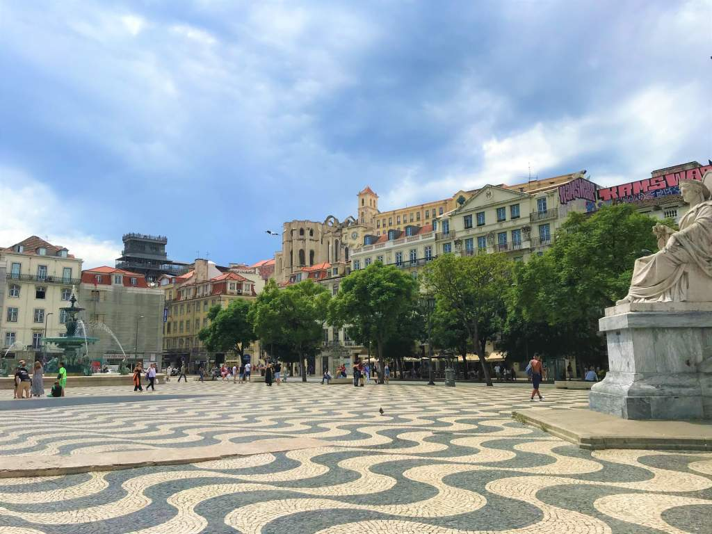 Rossio Square is a great place in Lisbon for wheelchair users since it's a flat plaza.