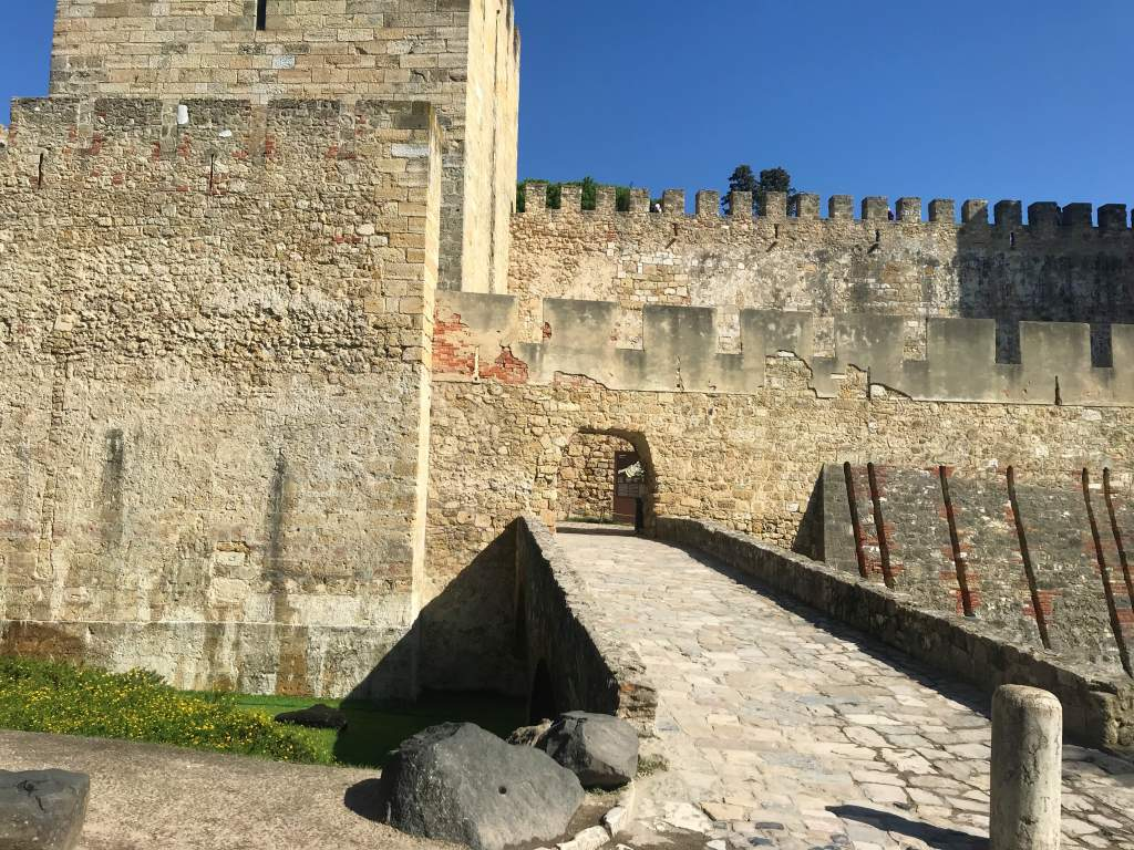 The wheelchair accessible entrance to St. George's Castle in Lisbon.