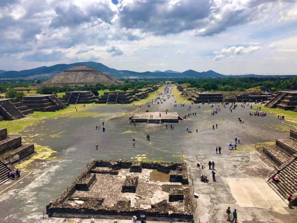 A view of the wheelchair accessible path at Teotihuacan, located outside of Mexico City.