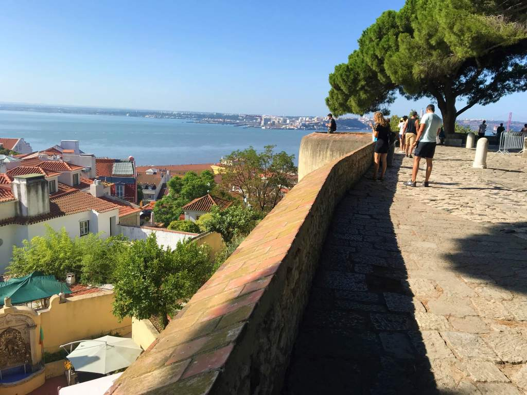 A view of Lisbon from St. George's Castle.