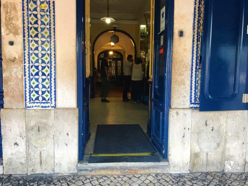 A wheelchair accessible entry at Antiga Confeitaria de Belém in Lisbon.
