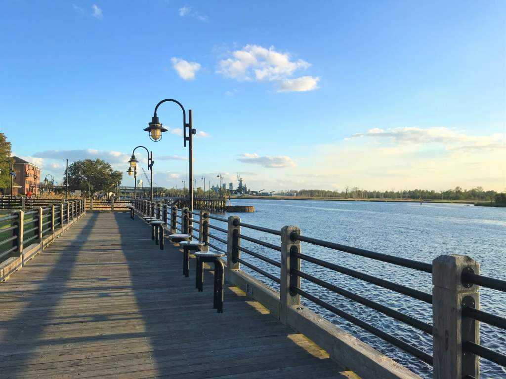 The Riverwalk is one of the best wheelchair accessible places in Wilmington.