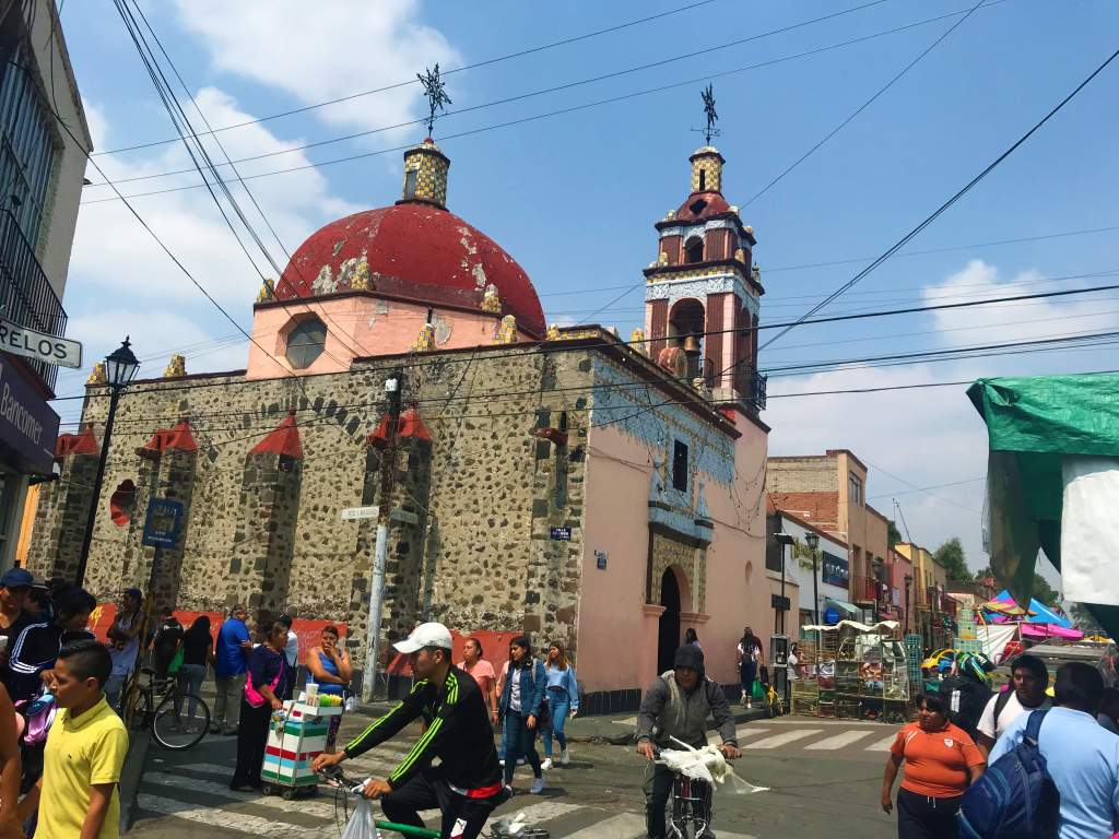 One of the churches in Xochimilco.