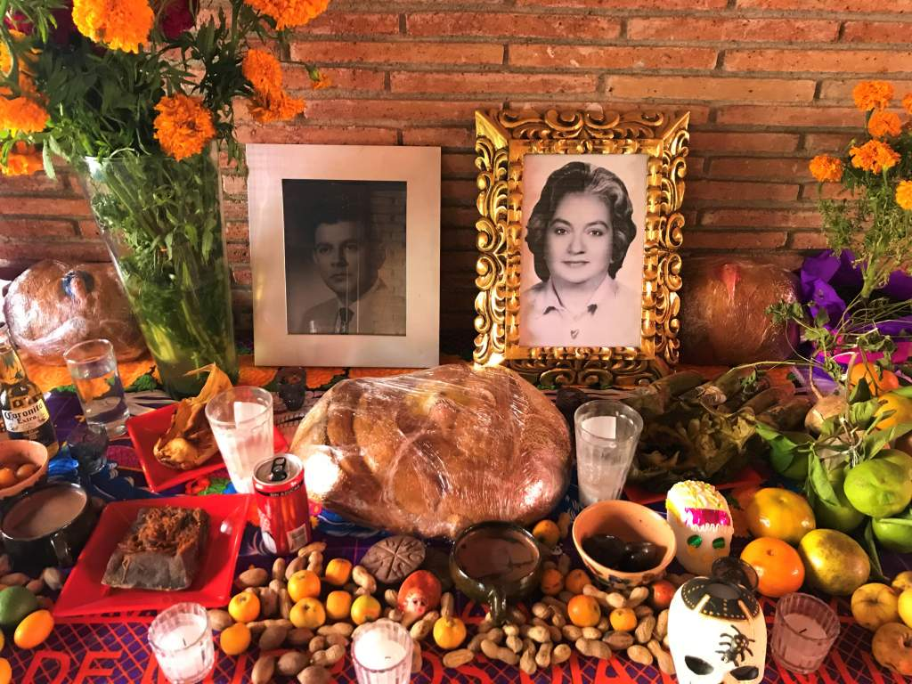 A traditional Mexican offering for Day of the Dead.