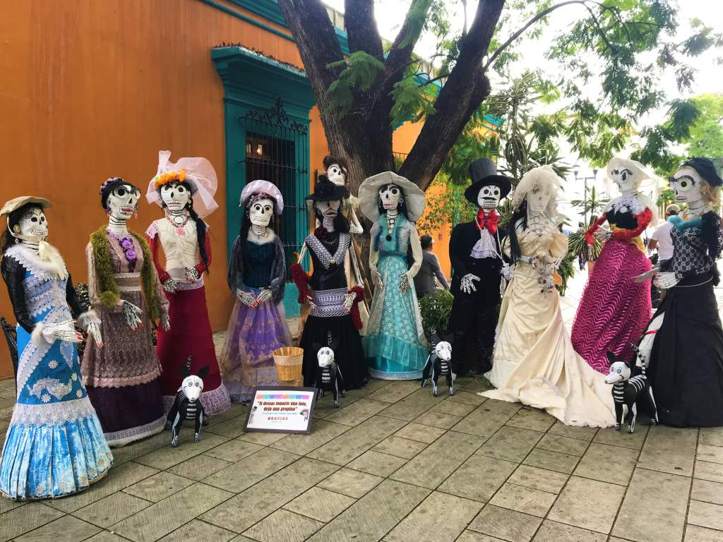 A group of skeletons in Oaxaca, Mexico.