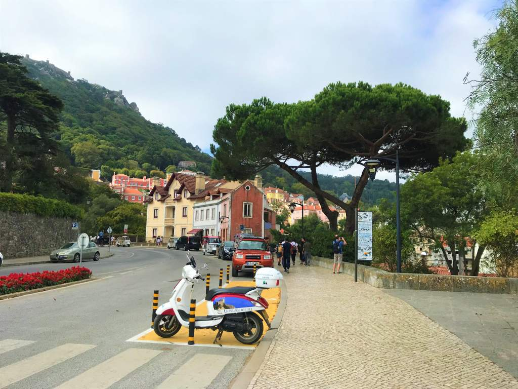 A view of Sintra when rolling by wheelchair to town from the train station.