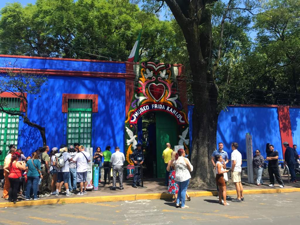 The entrance to the Frida Kahlo Museum.
