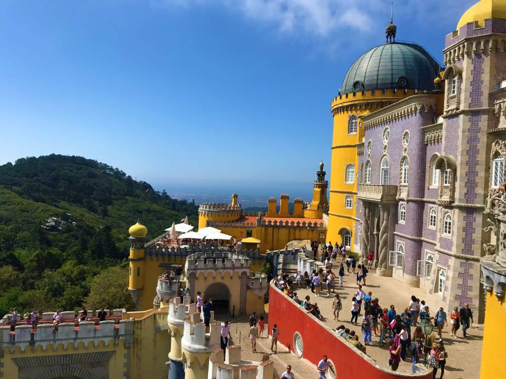 A view of Pena Palace and the countryside.