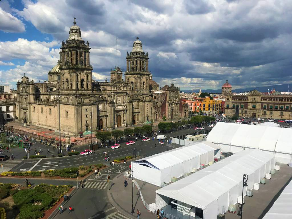 An areal view of the Metropolitan Cathedral.